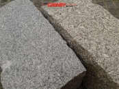 Granit-Mauersteine / Naturstein-Mauer / Granit-Mauer, grau, Feinkorn und Mittelkorn (Granit-Mauersteine aus Polen), Mauersteine für eine Natursteinmauer, Polengranit