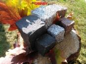 Granit-Pflastersteine, Granit-Würfel, Natursteinpflaster, Polengranit, gespalten (schwarz /SCHWEDE/, grau, Mittelkorn und rot /VANGA/), Pflastersteine aus Polen, Pflastersteine aus Schweden, Naturstein aus Polen