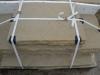 Sandstein-Elemente (Abdeckplatten aus Sandstein, grau-gelb, gesägt-gespalten)