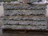 Granit-Randsteine 10x20x60-120 cm (Toleranzgrenze ±2 cm), grau-gelb, Mittelkorn, allseitig gespalten