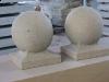 Sandsteinkugel (grau-gelb)