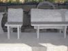 Sonderanfertigung aus Naturstein (Gartenmöbel, grauer Granit aus Polen)