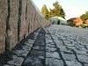 Palisaden aus Granit, allseitig gespalten