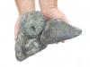 Ziersteine / Gerundete (getrommelte) Steine aus Serpentin - Serpentinit (nass) für Gabionen