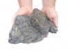 Ziersteine / Eckige Steine aus Serpentin - Serpentinit (nass) für Gabionen