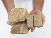 Kamień łamany z granitu, żółtego (suchy) do gabionów