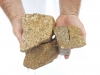 Ziersteine / Eckige Steine aus Granit, gelb (nass) für Gabionen