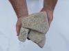 Kamień otoczony z granitu, żółtego (suchy) do gabionów