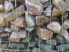 Ziersteine / Gemischte Natursteine für Gabionenkörbe (Beispiel), Natursteinmauer, Gabionenzaun, Gabionenmauer, Naturstein für Gabionen, Naturstein aus Polen, Polengranit, schwedische Natursteine