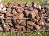 Gemischte Natursteine für Gabionenkörbe (Beispiel)