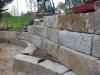 Granit, grau-gelb, Mittelkorn, allseitig gespalten