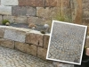 Granit, grau-gelb, Mittelkorn (Granit-Mauersteine aus Polen), Mauersteine für eine Natursteinmauer, Polengranit, Natursteinmauer, Granitmauer