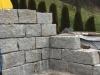 Granit-Mauersteine / Naturstein-Mauer / Granit-Mauer, grau, Mittelkorn, gespalten (Granit-Mauersteine aus Polen), Mauersteine für eine Natursteinmauer, Polengranit