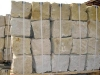 Sandstein-Mauersteine / Naturstein-Mauer / Sandstein-Mauer (grau-gelb)..., Sandstein-Mauersteine aus Polen, Mauersteine für eine Natursteinmauer, Polensandstein