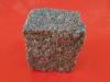 Granit-Pflastersteine, Granit-Würfel, rosa-grau (Bohus - ein importiertes, schwedisches Material) - nass, allseitig gespalten, Naturstein aus Schweden, Granit aus Schweden, Pflastersteine aus Polen, Pflastersteine aus Schweden, Naturstein aus Polen