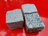 Granit-Pflastersteine Feinkorn und Granit-Pflastersteine Mittelkorn, grau, trocken, Granit-Pflastersteine aus Polen