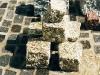 Granit-Pflastersteine, Granit-Würfel, Natursteinpflaster, Polengranit (grau, mittelkörnig, alle Seiten gespalten), Naturstein aus Polen, Pflastersteine aus Polen, Pflastersteine aus Schweden, Naturstein aus Polen