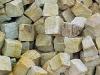 Sandstein-Pflastersteine, Sandstein-Würfel, Natursteinpflaster (grau-gelb, alle Seiten gespalten)..., Sandstein-Pflastersteine aus Polen, Naturstein aus Polen, Pflastersteine aus Polen, Pflastersteine aus Schweden, Naturstein aus Polen