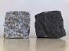 Kostka granitowa, łupana, szara (polski, mrozoodporny granit średnioziarnisty) i czarna (granit szwedzki)