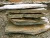 Serizit-Schiefer, Steine als Großplatten