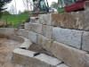 Natursteinmauer / Naturstein-Mauer / Granit-Mauer... Granit-Mauersteine, grau-gelb, Mittelkorn, allseitig gespalten (Granit-Mauersteine aus Polen), Mauersteine für eine Natursteinmauer, Polengranit