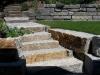 Granit-Mauersteine, grau-gelb, Mittelkorn, allseitig gespalten - Foto von unseren Kunden