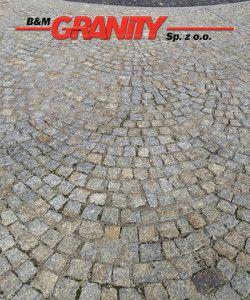 Granit-Pflastersteine, grau-gelb