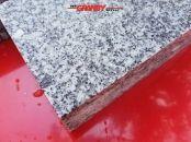 Granit-Platten, grau, Mittelkorn, geflammt - (NUR BEISPIEL - AUF DEM FOTO ALS NASS) – unterschiedliche Größen/Maßen (Syenit aus Polen), Platten für den Garten- und Landschaftsbau, Gehwegplatten, Abdeckplatten, Polygonalplatten, Terrassenplatten, Naturstein aus Polen, unterschiedliche Farben, Formate